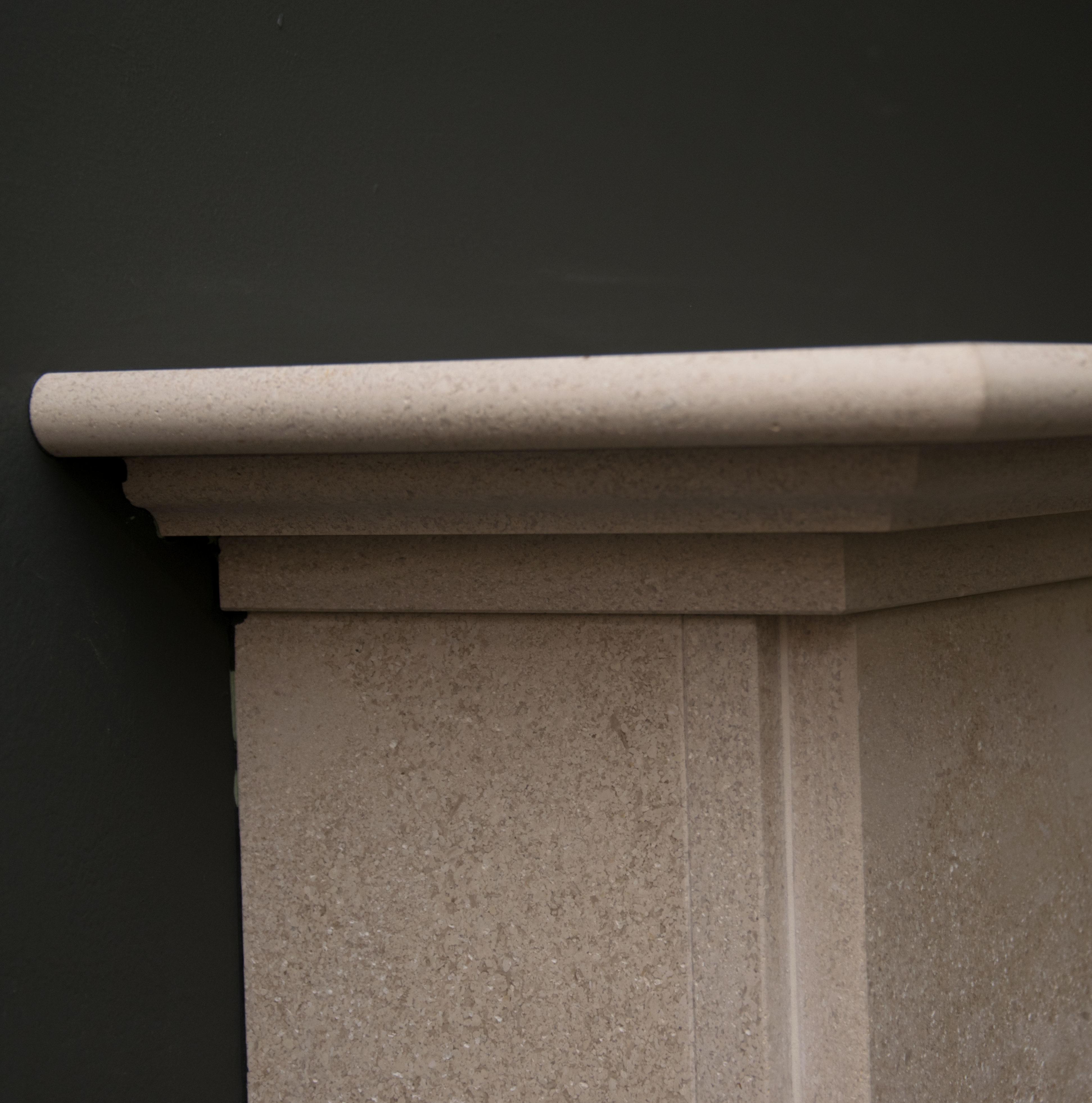 Jersey Limestone Fireplace Top