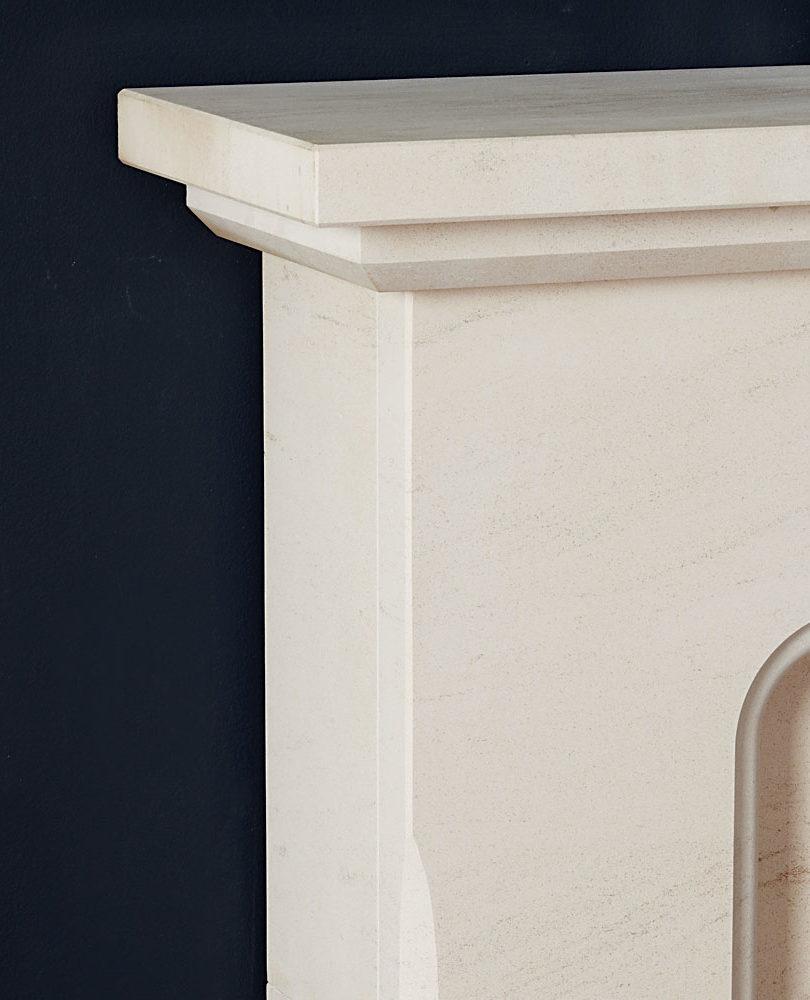 Madison Limestone Fireplace Detail